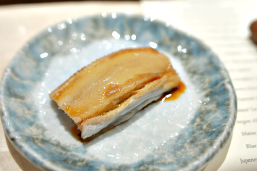 Japanese Anago (sea eel) nigiri