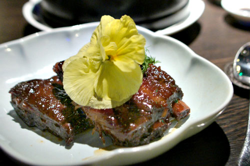 Jasmine tea smoked pork short ribs