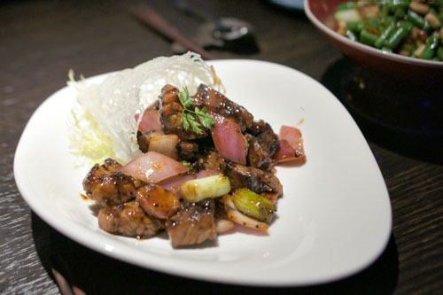 Stir-fried black pepper beef