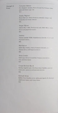 Hakkasan Cocktail List