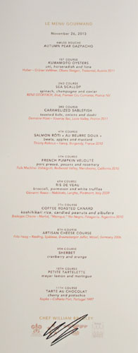 Addison Le Menu Gourmand