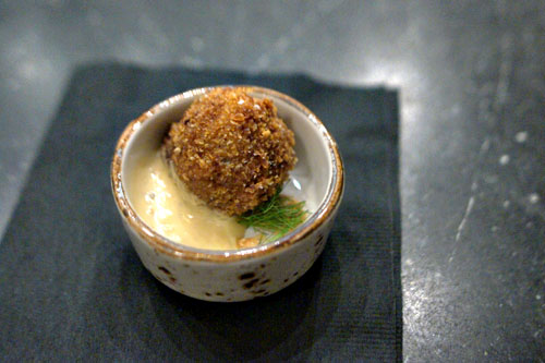 Oxtail Stew Croquette with Peanut Butter Sauce
