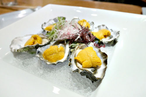 Kumamoto Oyster on the Half Shell w/ Sea Urchin