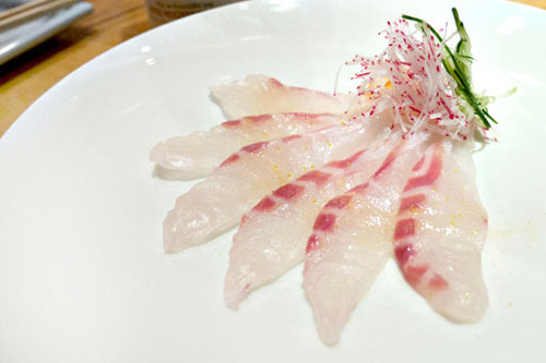 Red Snapper Sashimi w/ Sea Salt & Japanese Citrus 'Yuzu'