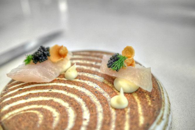 smoked sturgeon, parsnip & caviar