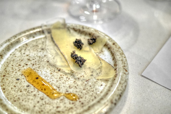 tomme with truffle & black honey