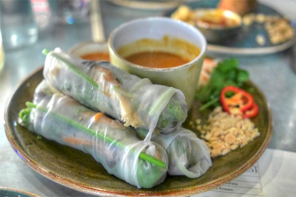grilled pork spring roll