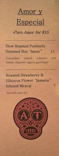 Amor y Tacos Specials