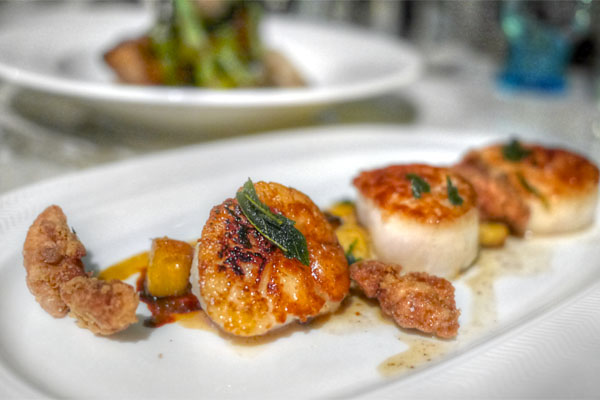 Seared Diver Scallops
