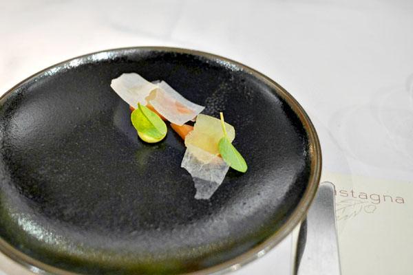 Salmon, daikon, ginger