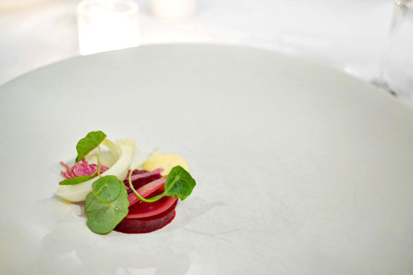 Beet, blood orange, onion