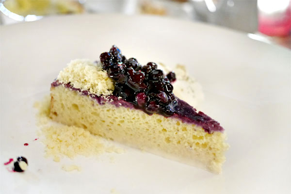 Huckleberry and Sambuca Seis Leches Cake