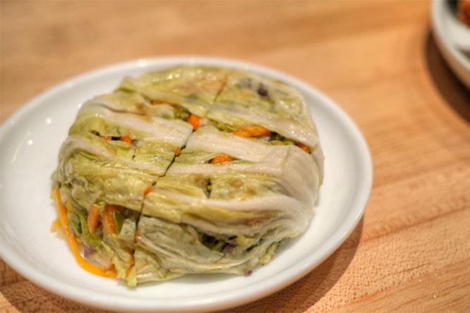 White stuffed kimchi