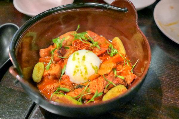 Honeycomb Tripe and Kimchi Stew