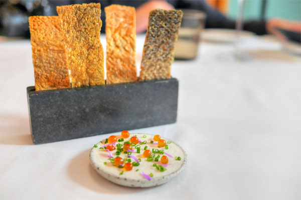 Salmon Skin and Dip