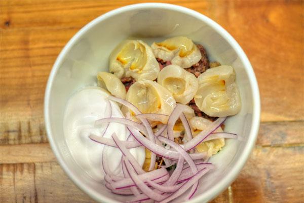 Pork Sausage, Habanero & Lychee Salad