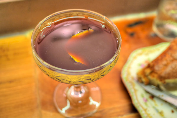Gin, Sweet Vermouth, Fig Balsamic