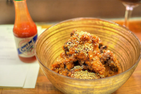 Pickle-Brined Fried Chicken, Honey & Benne Seed