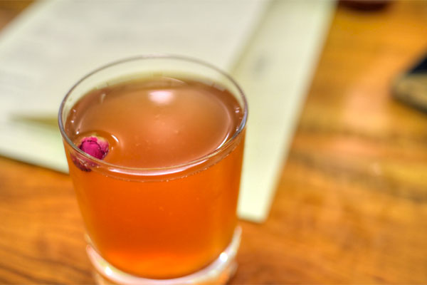 Rye, Rose Water, Sweet Vermouth