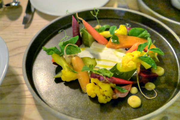 Pickled garden, cucumber, carrot, squash, cauliflower, baby beets, red miso