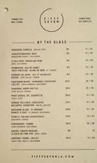 Fifty Seven Wines by the Glass