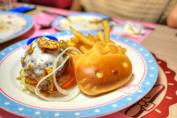 Kitty Mushroom Beef Burger