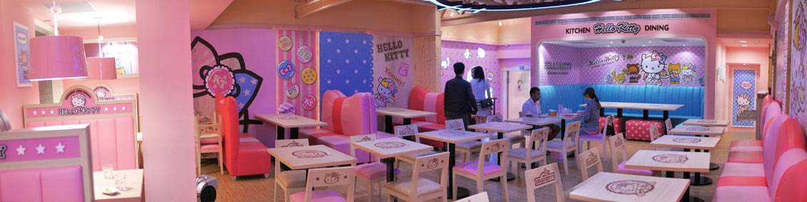Hello Kitty Kitchen and Dining Interior: Second Floor