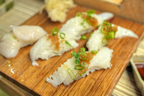 Halibut and Scallop Sushi