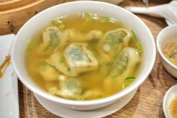 #21 - Vegetable and Ground Pork Wonton Soup
