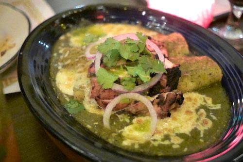 Verdes con Pollo Enchiladas