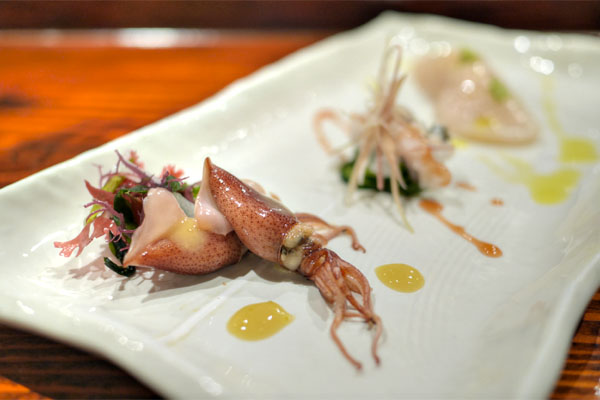 Baby Squid / Conger Eel / Hokkaido Scallop