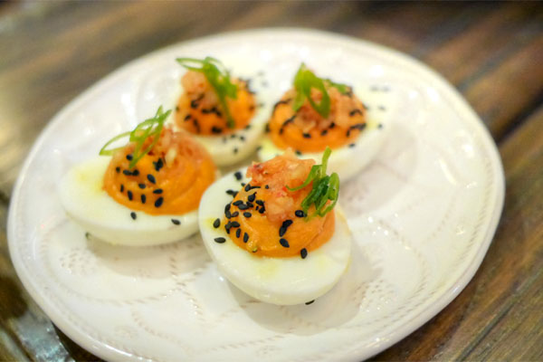 DEVILED JIDORI EGGS