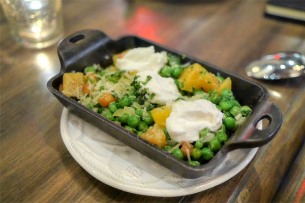 WARM ENGLISH PEAS and GOLD BEETS