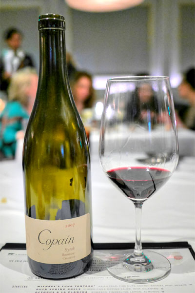 Copain Syrah 'Brosseau', Chalone 2007