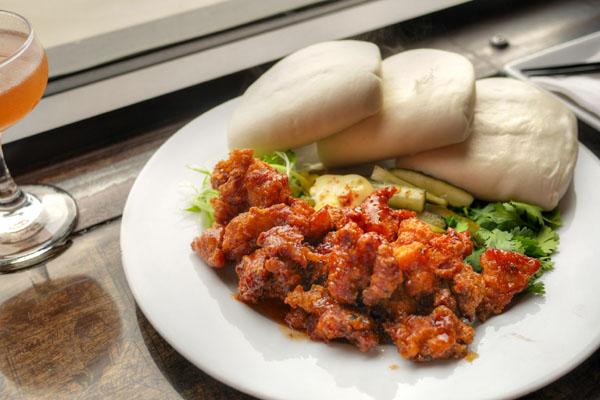 Fried Chicken Steamed Buns