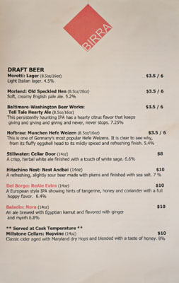 2Amys Beer List: Draft