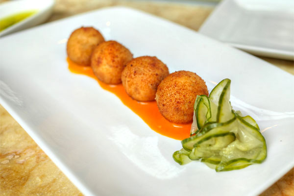 Croquetas de Jamón, Pickled Cucumbers