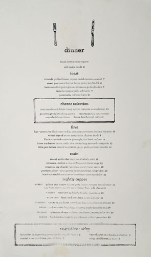 Superba Food + Bread Dinner Menu