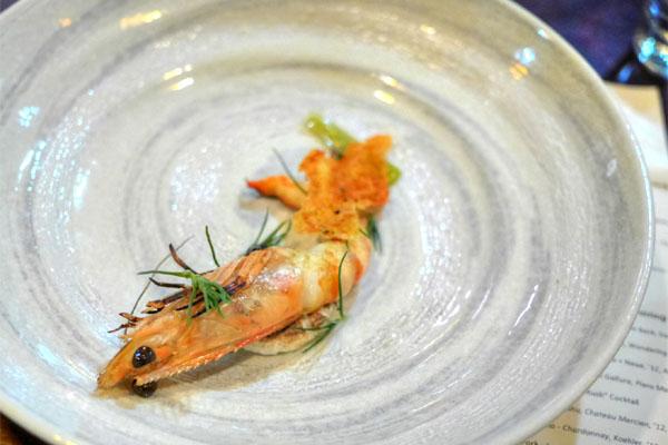 PRAWN - Vinegar Meringue - Rice Paper - Tokyo Negi