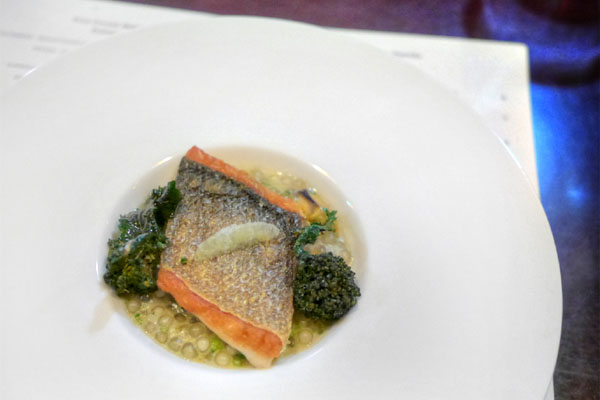 BRANZINO - Shellfish Tapioca - Fried Broccoli - Lemon