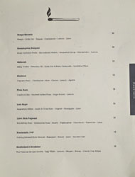 Allumette Cocktail List
