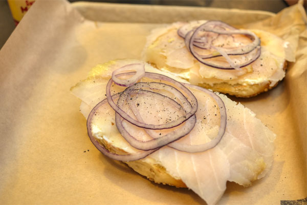 Bagel w/ Smoked Sturgeon & Cream Cheese