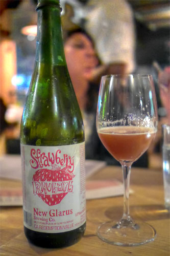 2013 New Glarus Strawberry Rhubarb