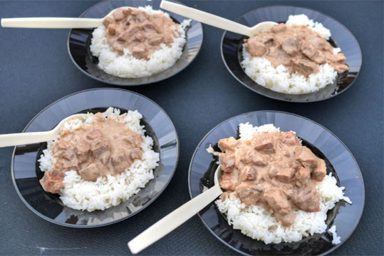 Coconut Beef and Rice