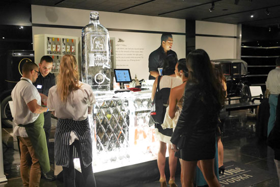 Ketel One ice bar