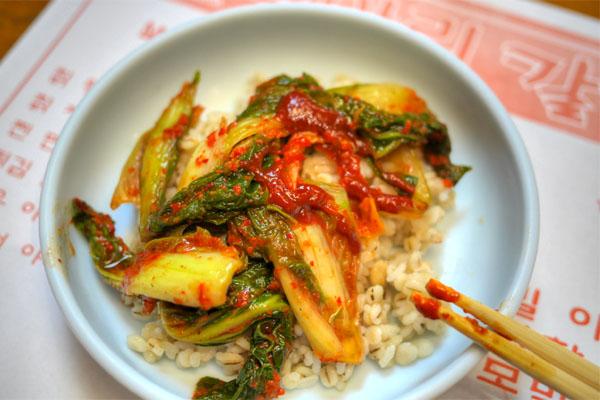 Yeolmu Kimchi & Bori Bap