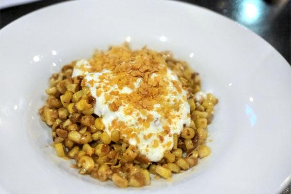 Pan Roasted Corn, Tandoori Butter, Sweet Lime Yogurt, Crunchy Corn