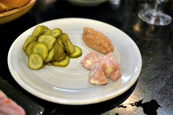 Ham Butter, Pickles, Beer Mustard