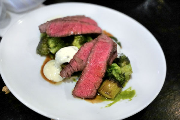 Imperial Wagyu Chuck Grilled Over Binchotan, Aerated White Cheddar, Broccoli: The Unexpected Hero