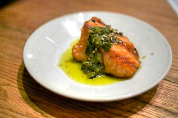 Grilled Ocean Trout with Grilled Chili Chimichurri
